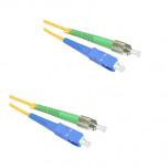 Патчкорд duplex FC/APC-SC/UPC, SM, 1м