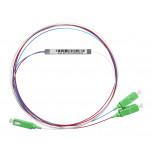 1х2, 0,9 мм, Оптический планарный PLC разветвитель (сплитер), SC/APC