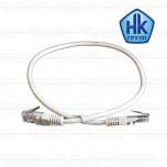 Патч-корд UTP4 cat.5e, 0.5m, литой коннектор, серый
